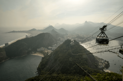 Cable car to Christ the Redeemer, Rio, Brazil