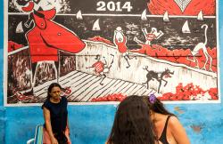 Street mural, Rio, Brazil