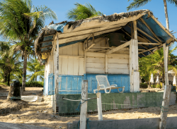 Beach shack, Guarajuba Bahia, San Salvador, Brazil
