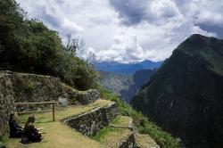 Meditators, Machu Picchu, Peru