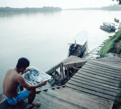 Boat keeper, Amazon, Peru