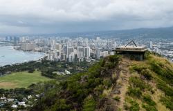 Atop-Diamond-Head, Waikiki, Oahu