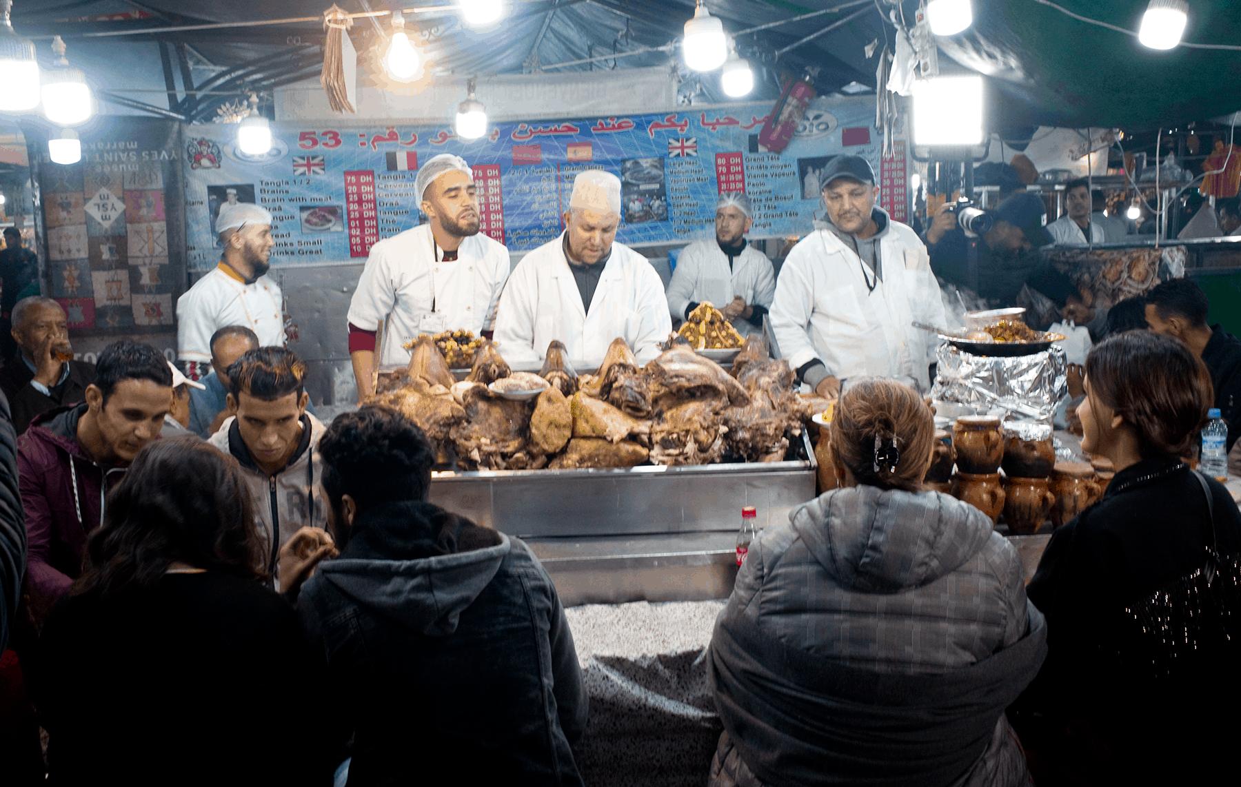 Outdoor eatery - Marrakech medina