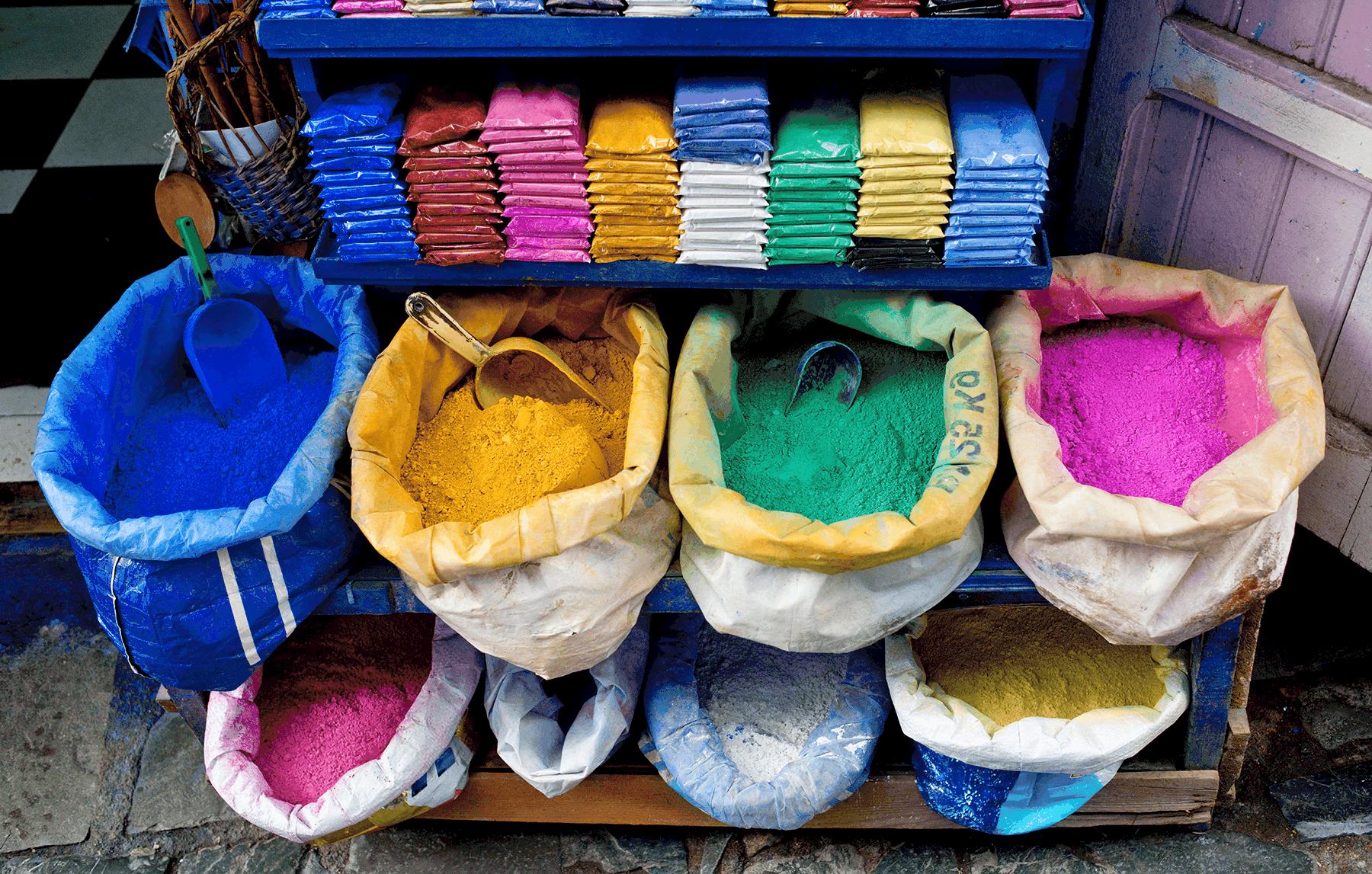 Chefchaouen dye shop