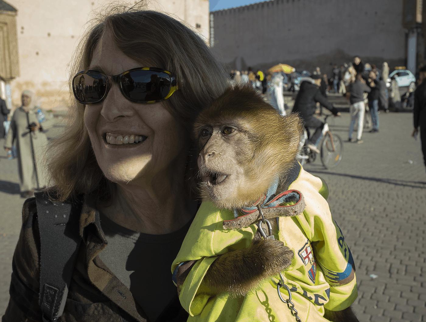 Sandy and friend near Marrakech