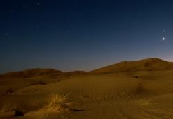 Sahara at night
