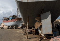 Essaouira fishing boat repair