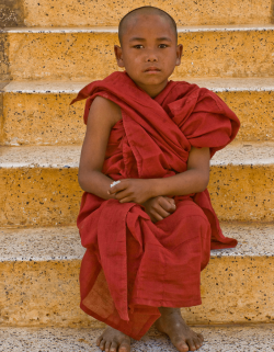 Young monk, Began