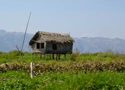 Inle lake house on stilts