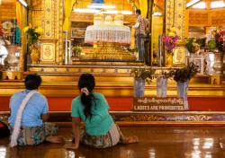 Shwedagon Pagoda temple, Rangoon