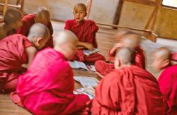 Inle lake novice monks