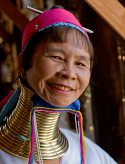 Long-necked woman, Inle lake