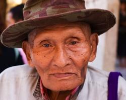 Old Man in Temple, Rangoon