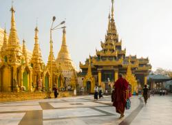 Shwedagon Pagoda temple , Rangoon
