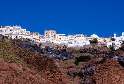 Santorini (from the coast), Greece