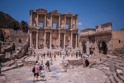 Library, old Roman city of Ephesus, Turkey