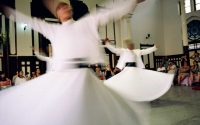 Swirling dervish, Instanbul, Turkey