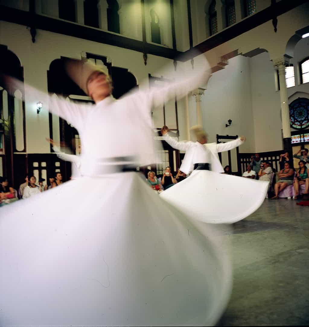Swirling dervish, Instanbul, Turkey