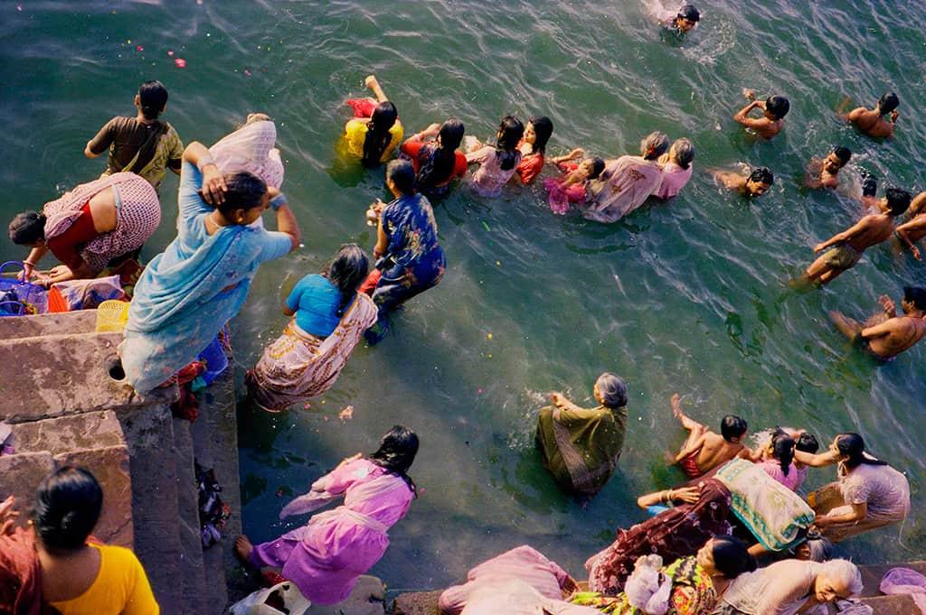Ganges scene, Benares, India