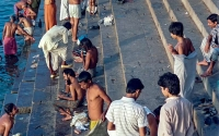 Ganges scene, Benares, India