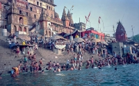 Bathing in the Ganges - Benares, India
