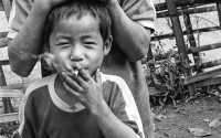 Hill tribe smoker- Thailand and Laos border