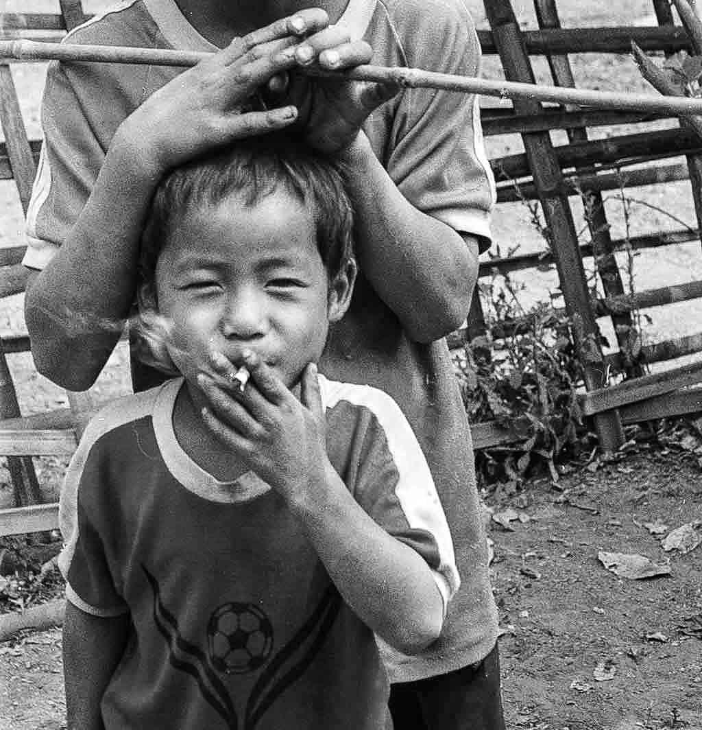 Hill tribe smoker- Thailand and Laos border