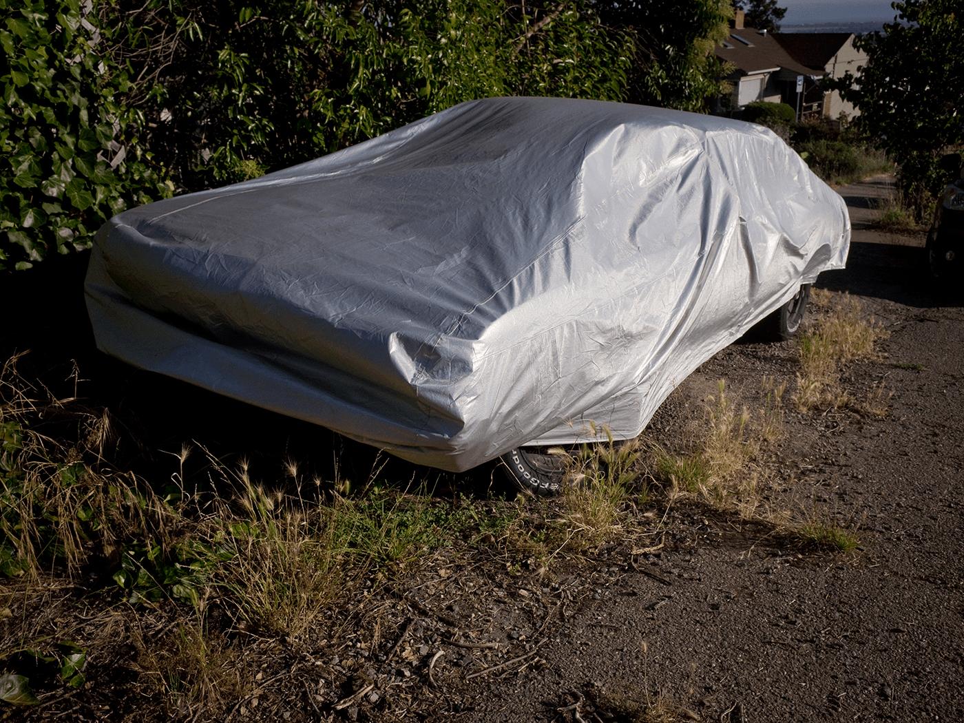 Silver car - Oakland
