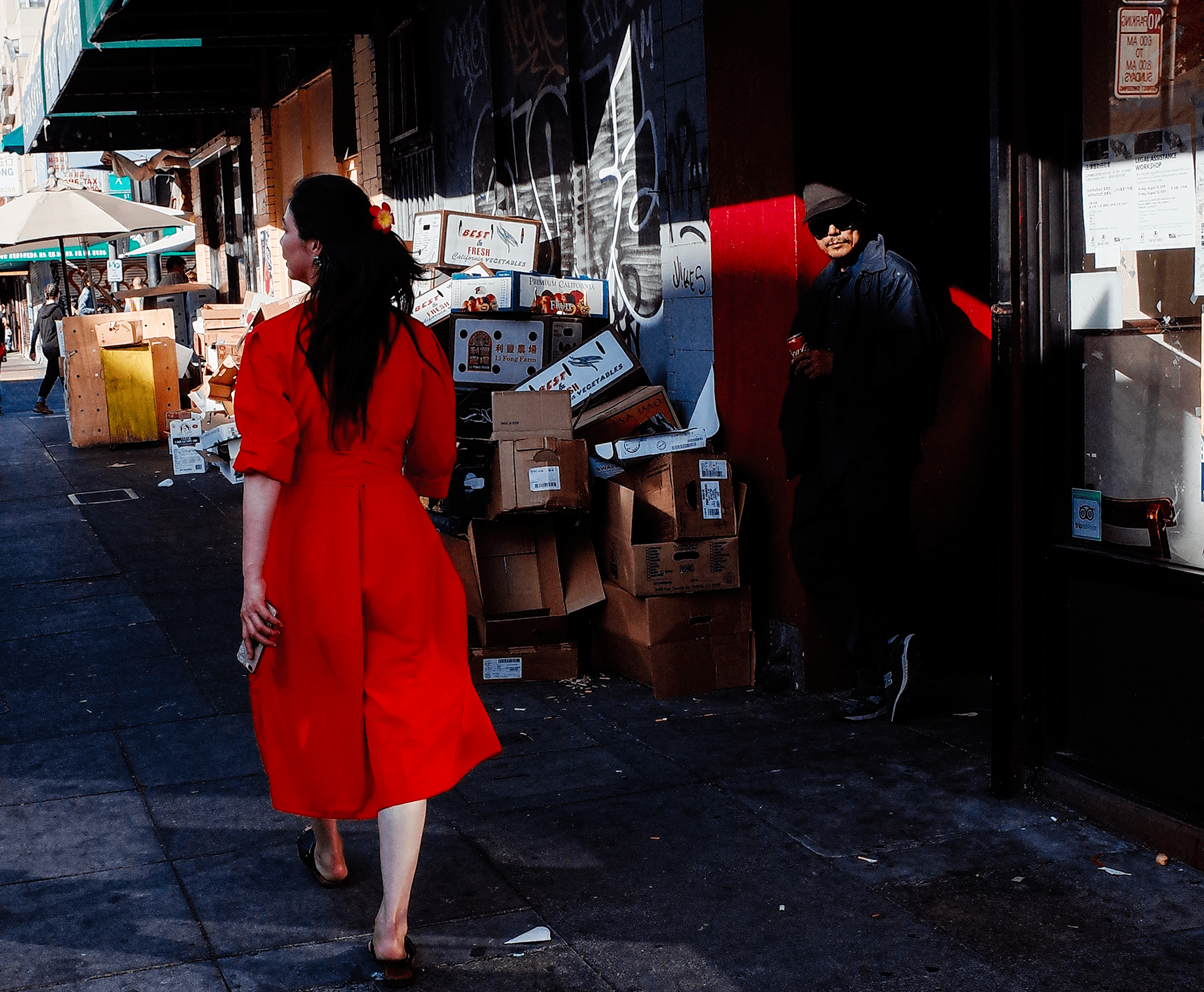 Woman in red - Oakland