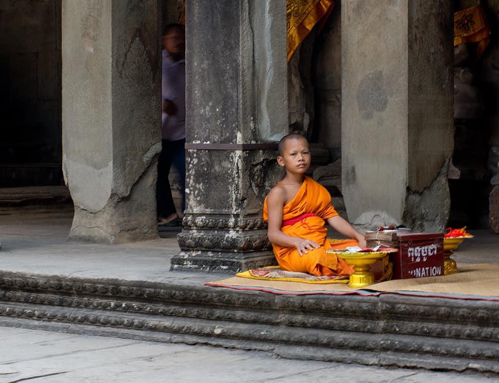 Novice Monk Angkor Wat