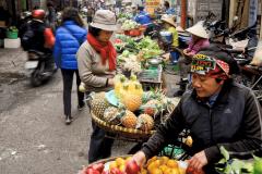 Hanoi vegetable and fruit street market
